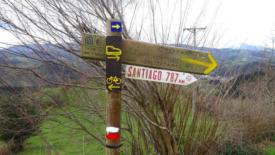 Markierung Jakobsweg - www.jakobsweg-kuestenweg.de